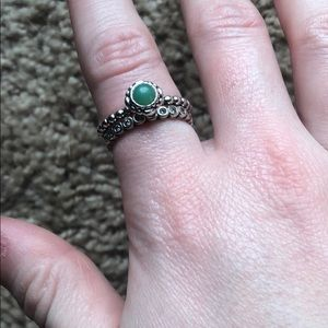 Pandora stackable ring and birthstone ring